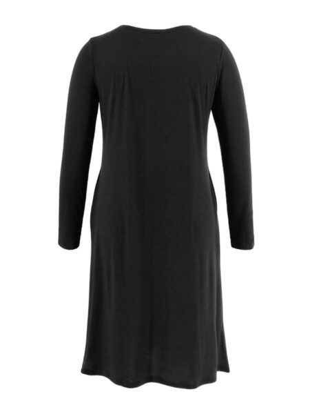 Maternity Christmas Santa & Deer Print T-shirt Dress Wholesale Women Dresses 2021-08-23