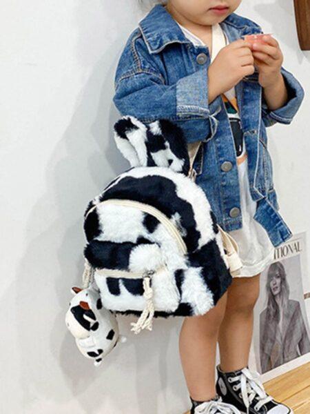 Little Girl Fluffy Backpack Wholesale 2