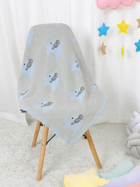 Baby Elephant Knitted Blanket Wholesale ACCESSORIES Unisex