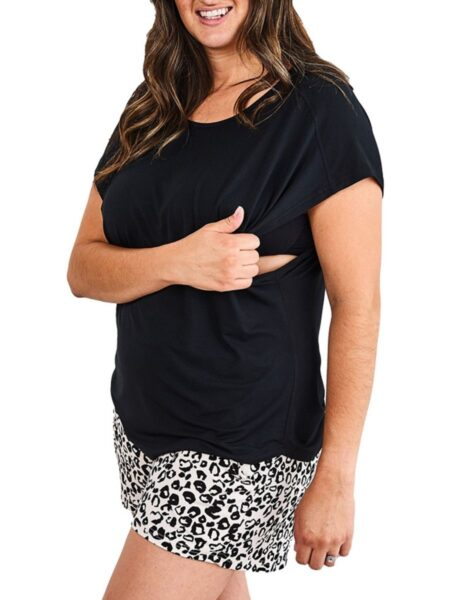 Maternity Solid Color Nursing Modal T-Shirt Wholesale Women MOMMY & ME 2021-08-23