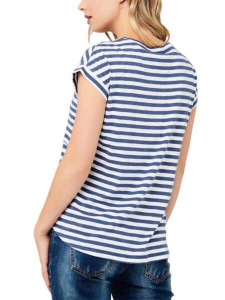 Maternity Striped Nursing Basic T-Shirt Wholesale Women MOMMY & ME 2021-08-23