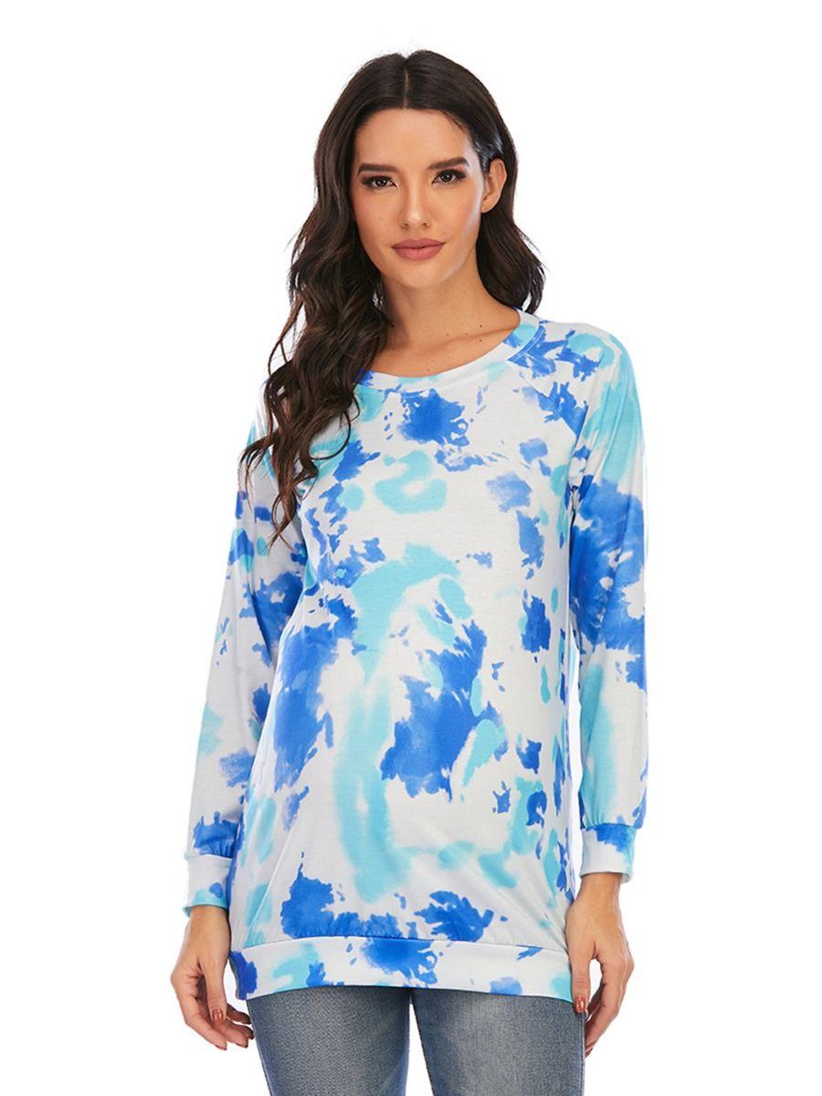 Maternity Pocket Stripe Camo Color Blocking Top Wholesale Women MOMMY & ME 2021-08-23