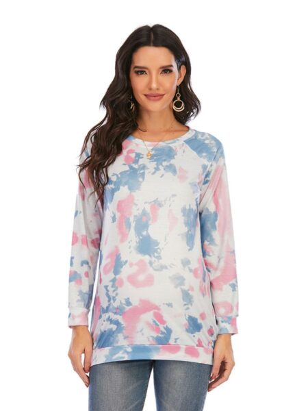 Maternity Round Neck Tie-dye Top Wholesale Women 2
