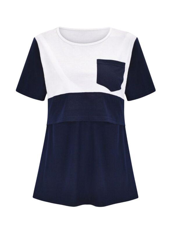 Maternity Pocket Front Colorblock Nursing Top Wholesale Women 11