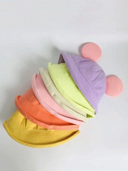 Kid Colorblock Lovely Bucket Hat Wholesale Hats 2