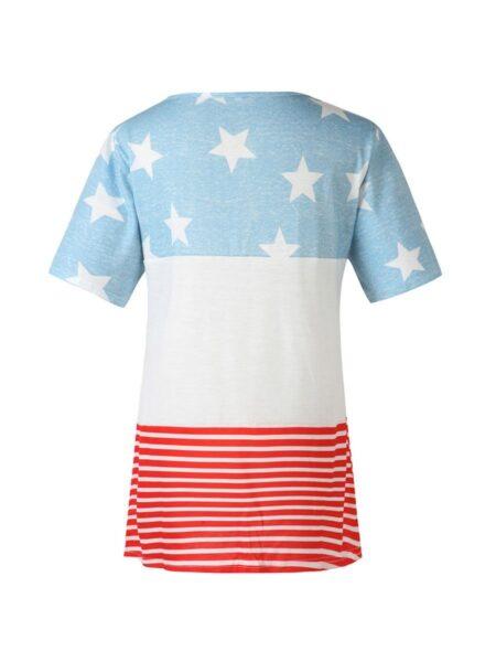 Maternity Star Stripe Independence Day Nursing Tee Wholesale 2