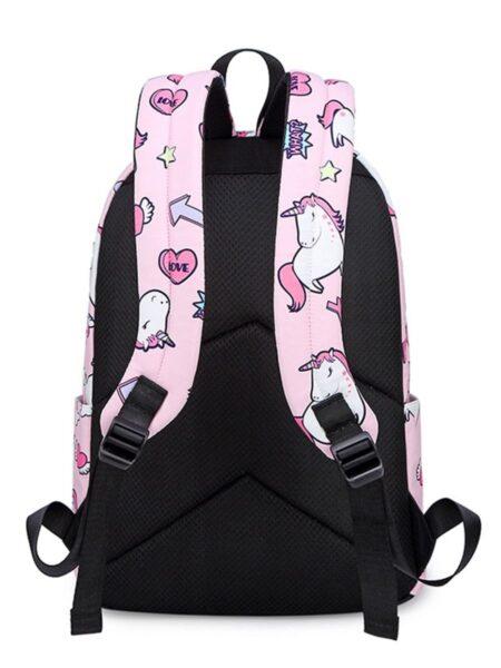 Kid Girl Unicorn Print Backpack Wholesale 2