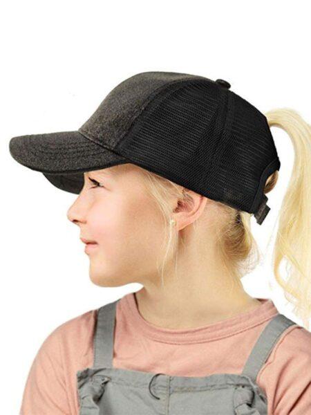 Kids Glitter Ponytail Baseball Cap Wholesale Hats 2