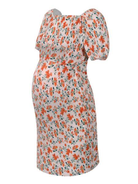 Maternity Floral Printed Nursing Dress MOMMY & ME 2021-08-20