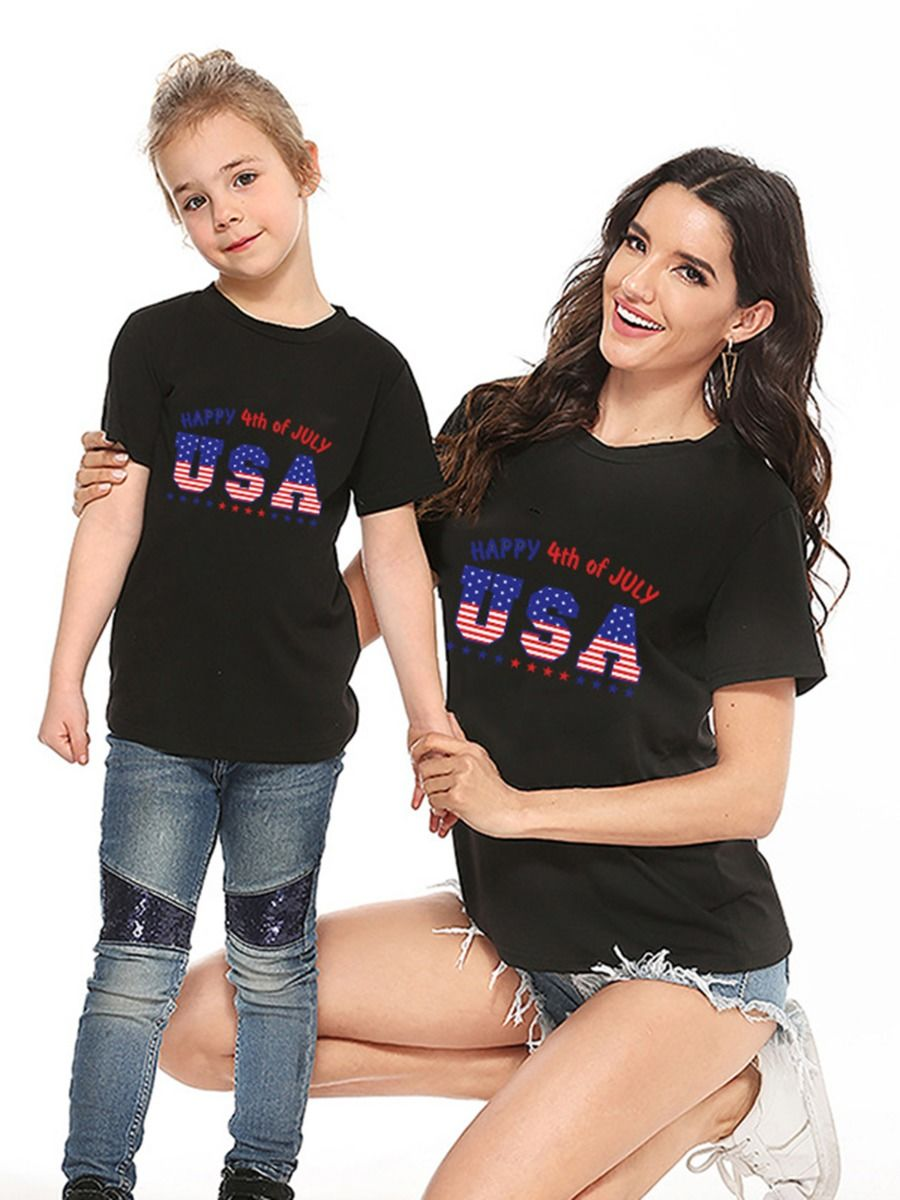 Mommy and Me Independence Day Tee FAMILY MATCHING 2021-08-31