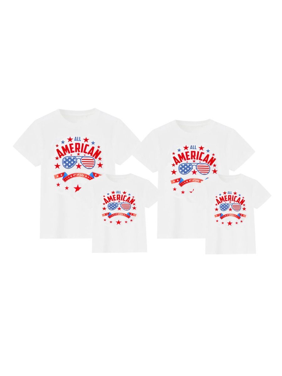 Independence Day Family Matching T-Shirt All American 4th Of July