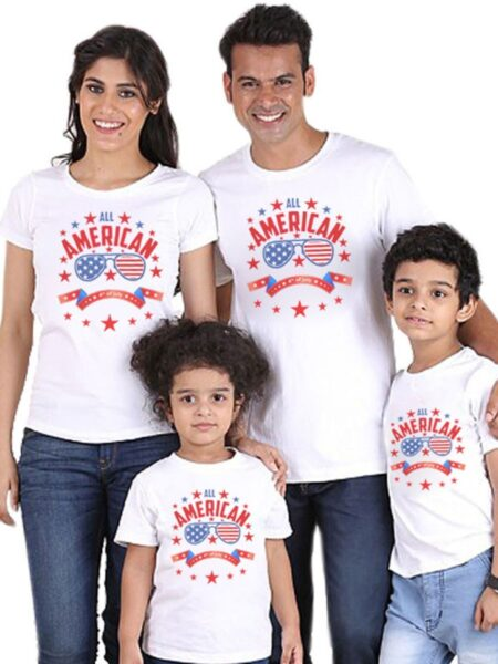 Independence Day Family Matching T-Shirt All American 4th Of July 2