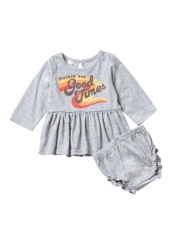 Family Matching NUTHIN'BUT GOOD TIMES Rainbow Printed Dress Set 9