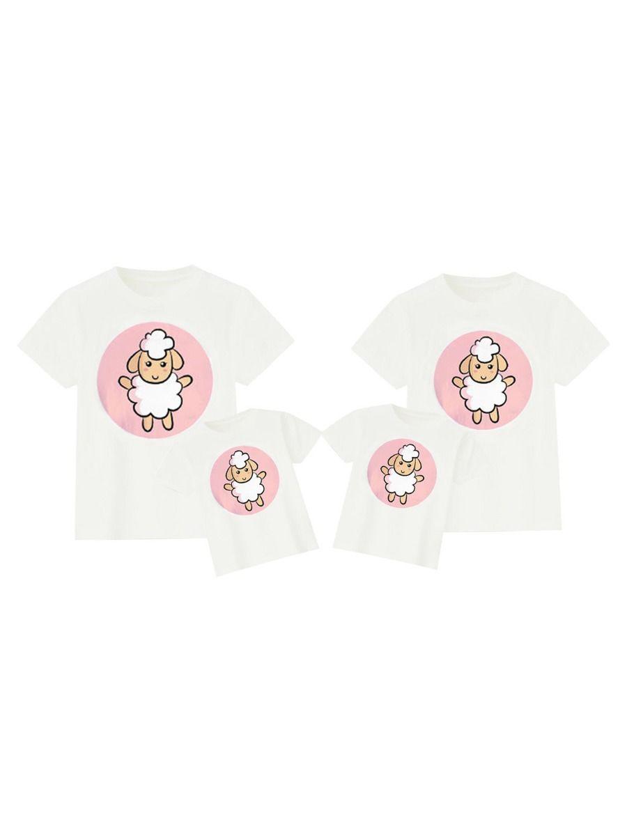 Family Matching Sheep Print T-Shirt FAMILY MATCHING 2021-08-29