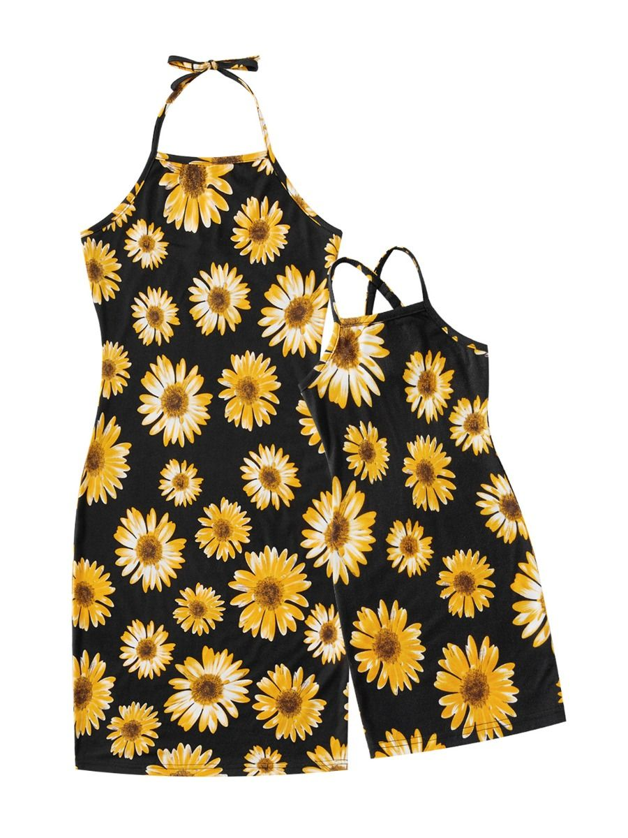 Mommy And Me Floral Print Cami Dress  Wholesale 11