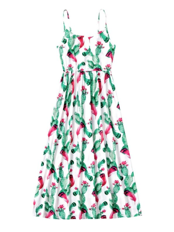 Mommy And Me Floral Print Cami Dress  Wholesale 7