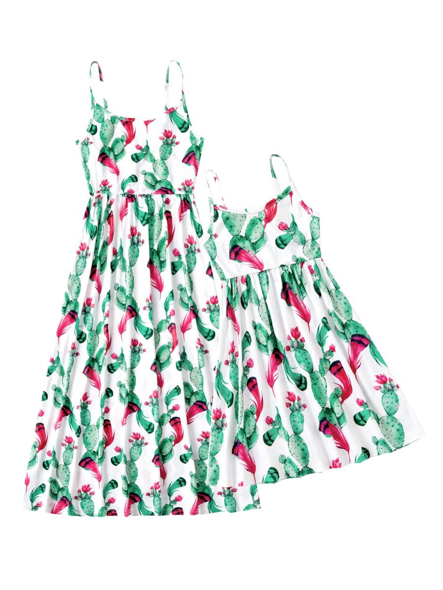Mommy And Me Floral Print Cami Dress  Wholesale 2