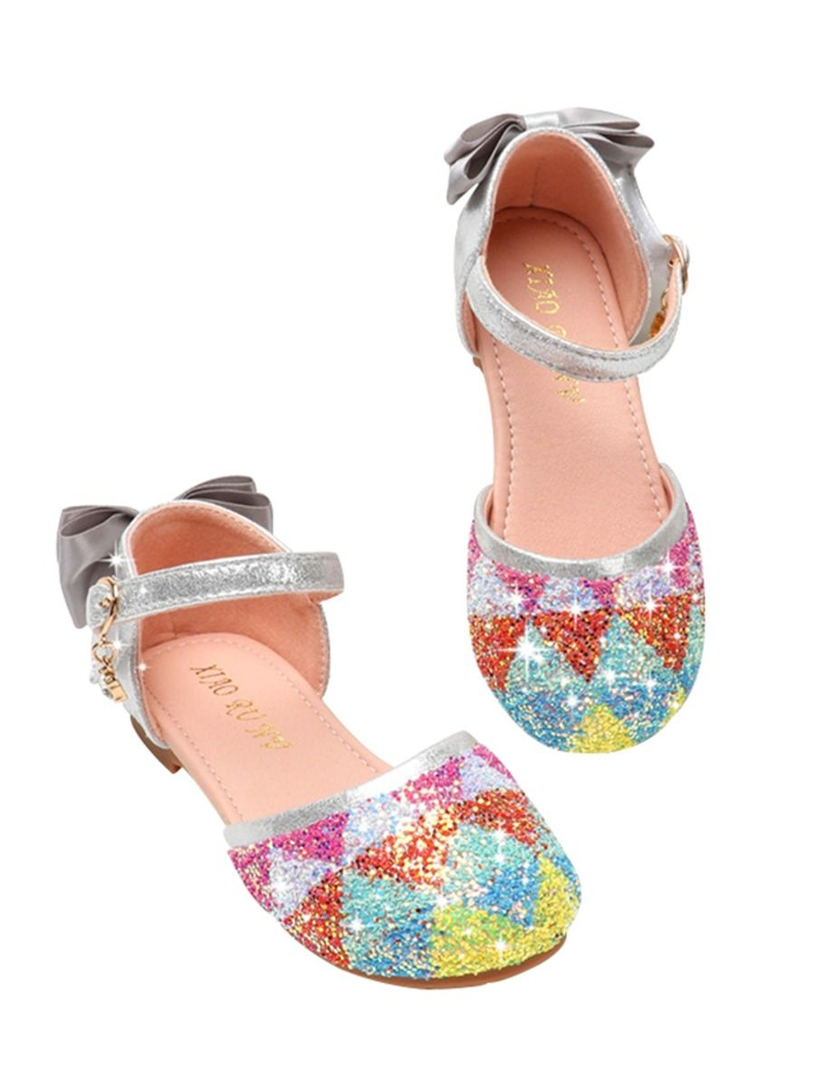 Baby Girl Bow Decor Beaded Shoes