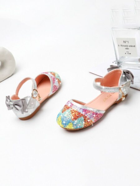 Baby Girl Bow Decor Beaded Shoes 2