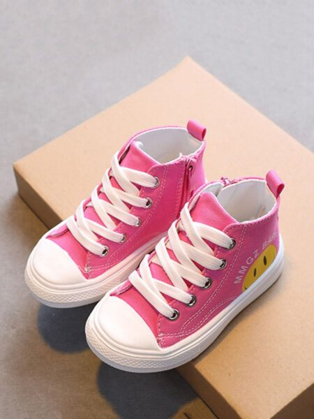 Toddler Kid Smiley Canvas Shoes 2
