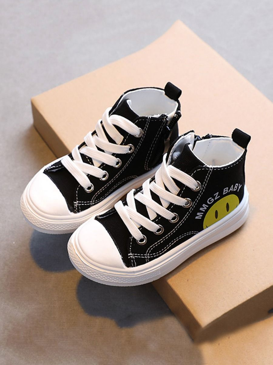 Toddler Kid Smiley Canvas Shoes