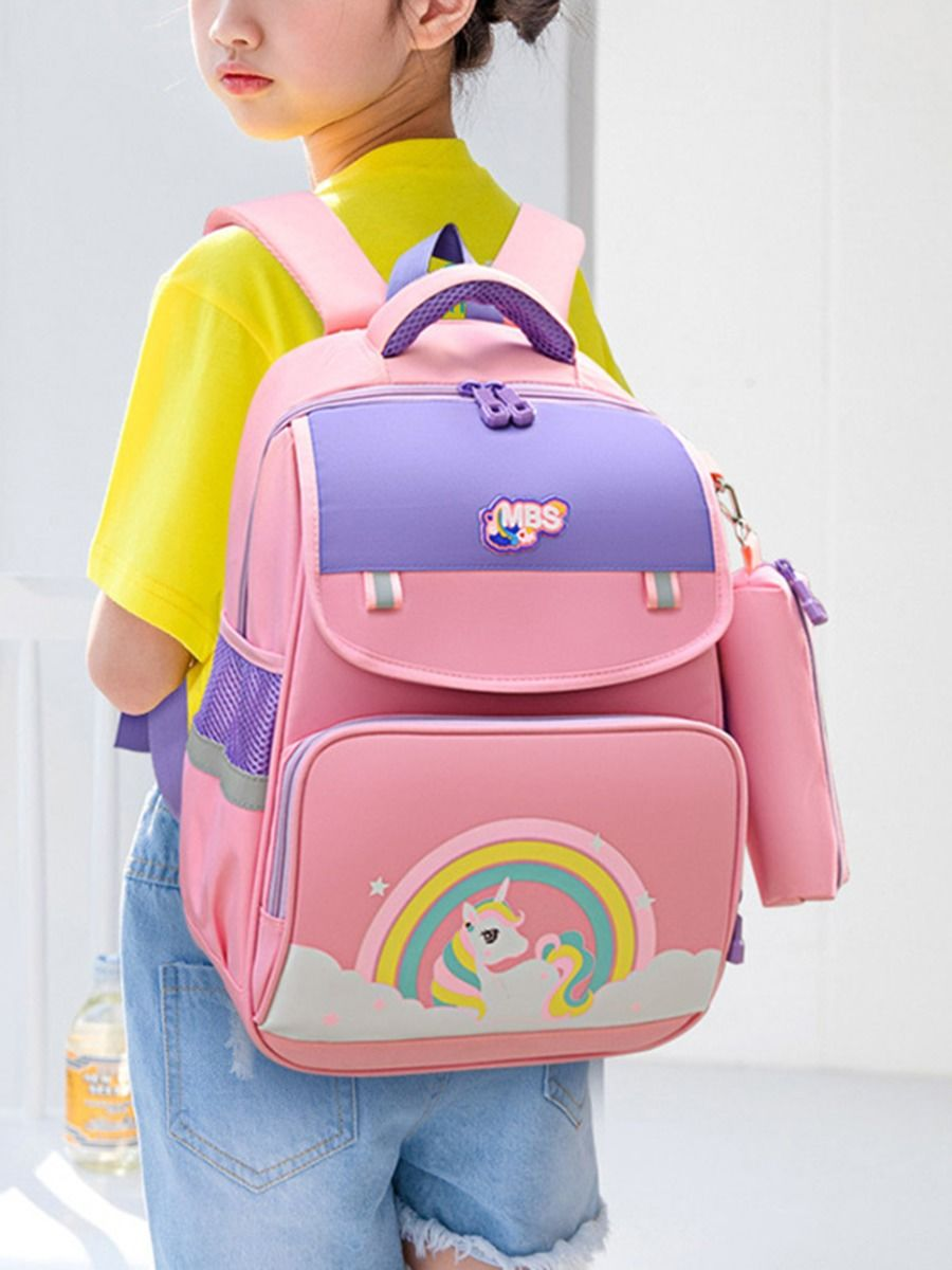 Kid Cartoon Backpack With Pencil Case  Wholesale