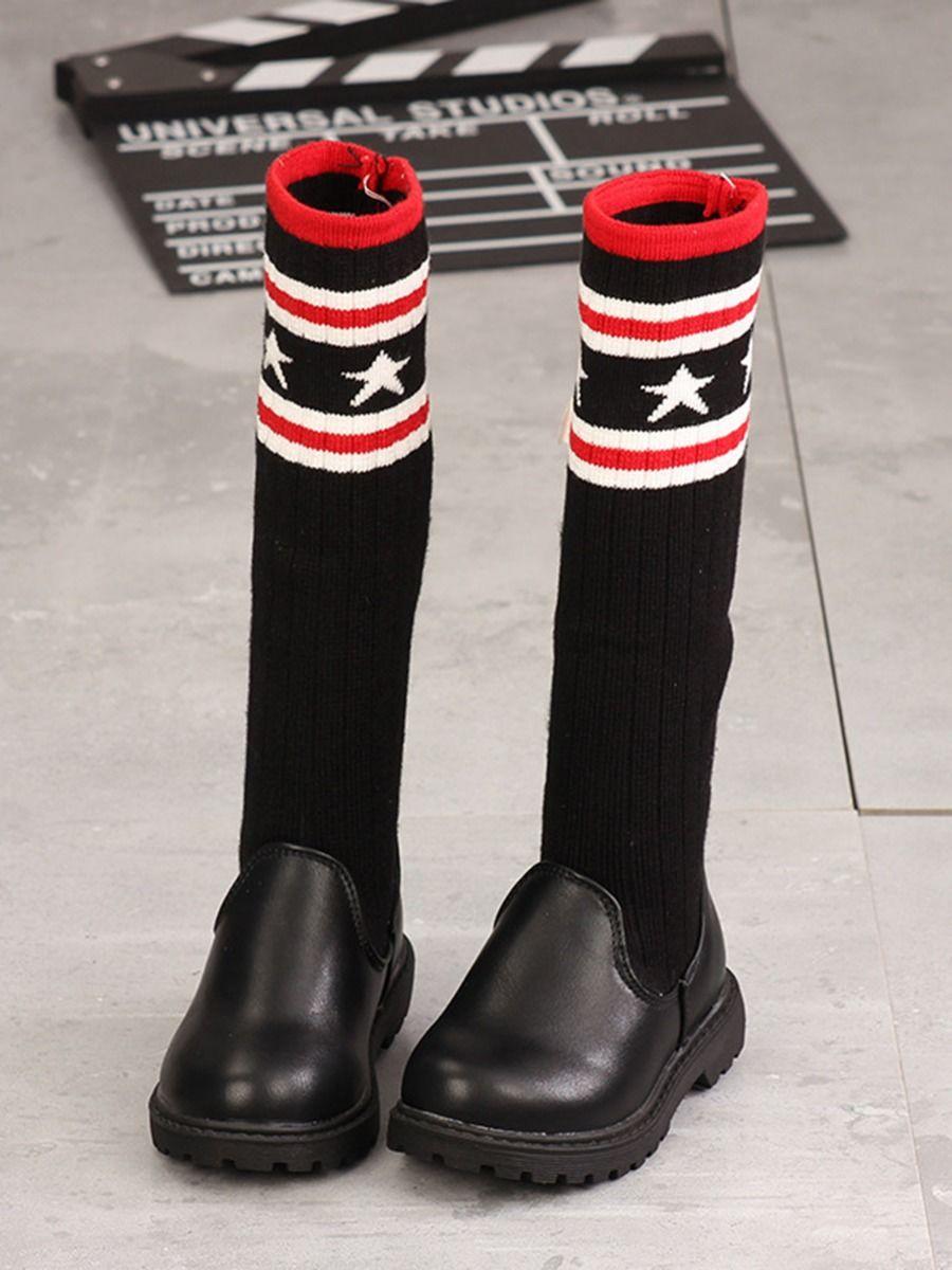Little Girl Star Knit Boots