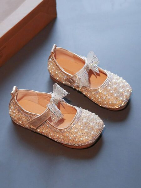 Beaded Sequins Princess Party Dance Girls Shoes 2