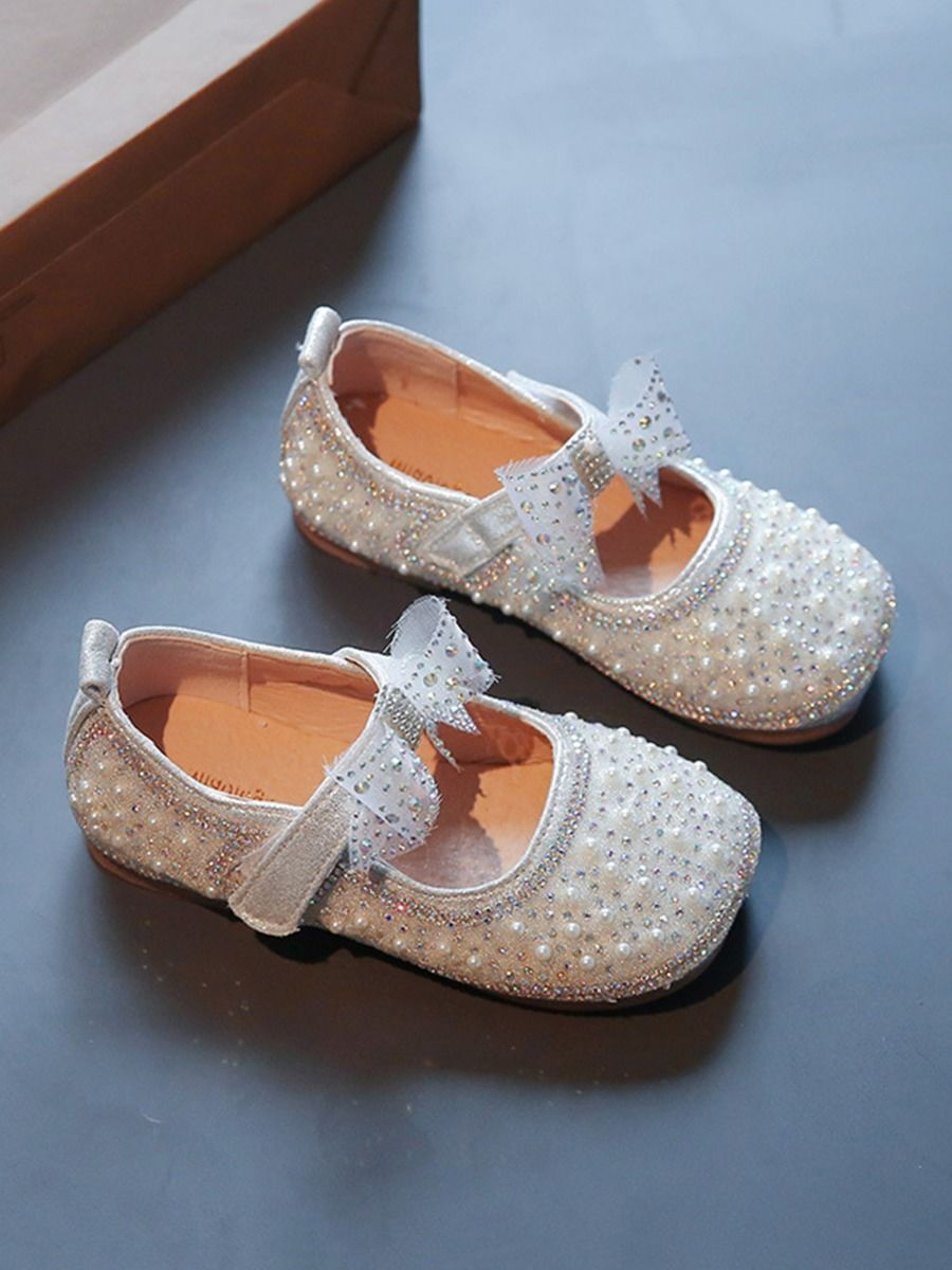 Beaded Sequins Princess Party Dance Girls Shoes