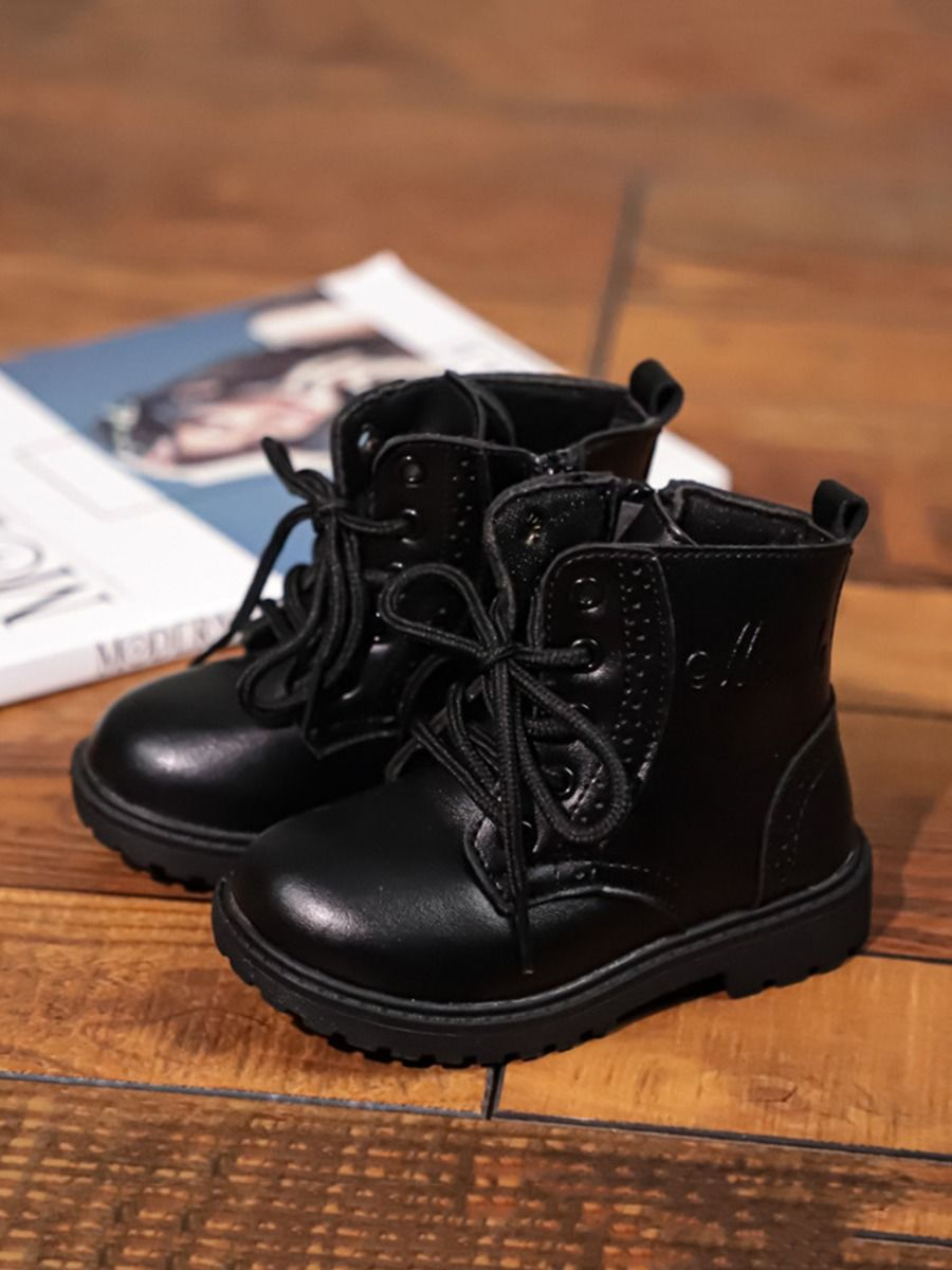 Solid Color Kid PU Boots