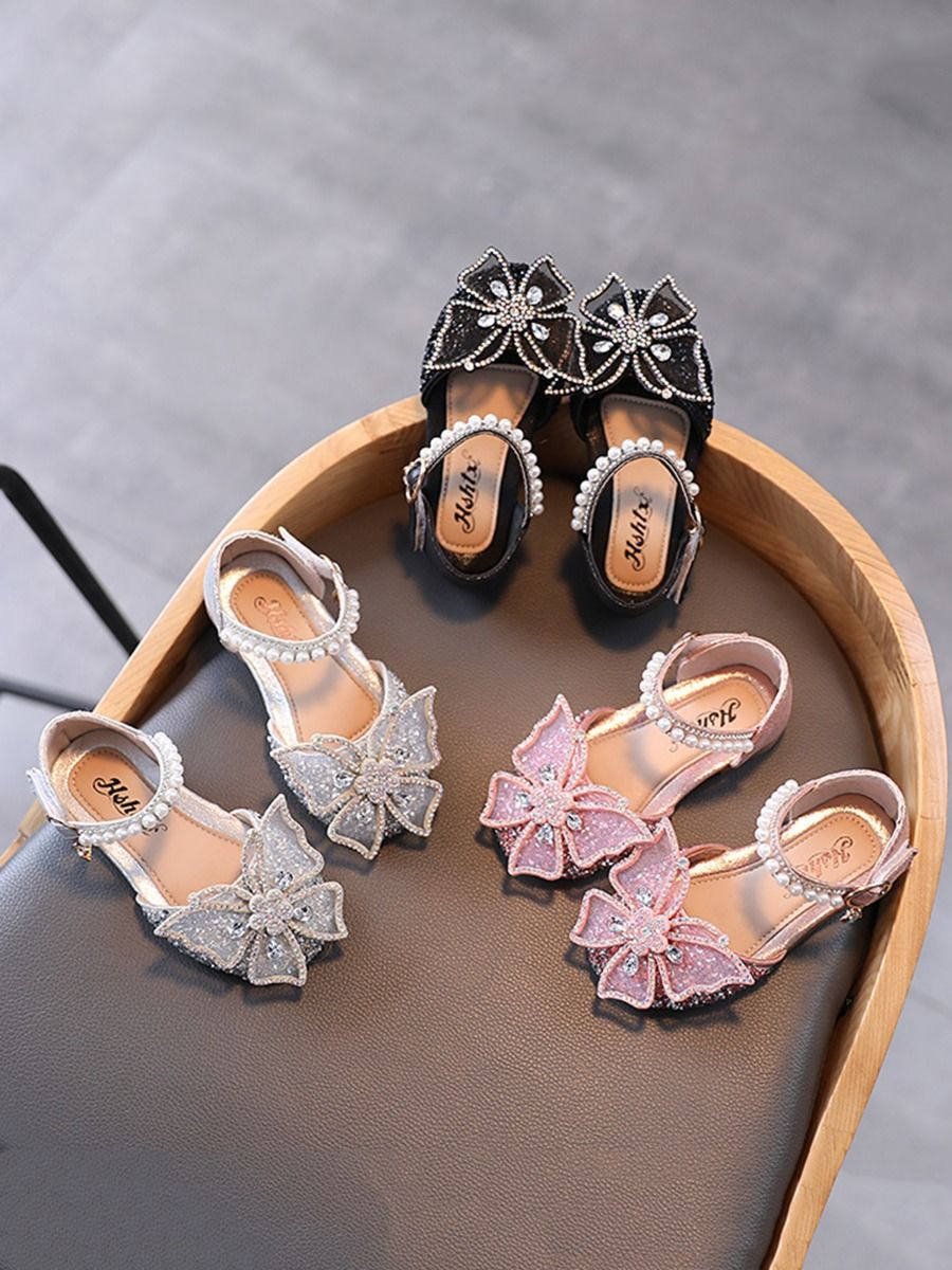 Kid Girl Butterfly Beaded Shoes