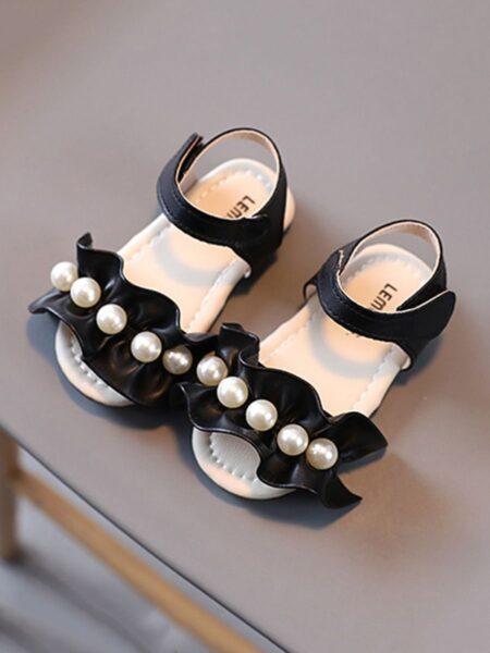 Ruffle Trim Beaded Sandals Girls Shoes 2