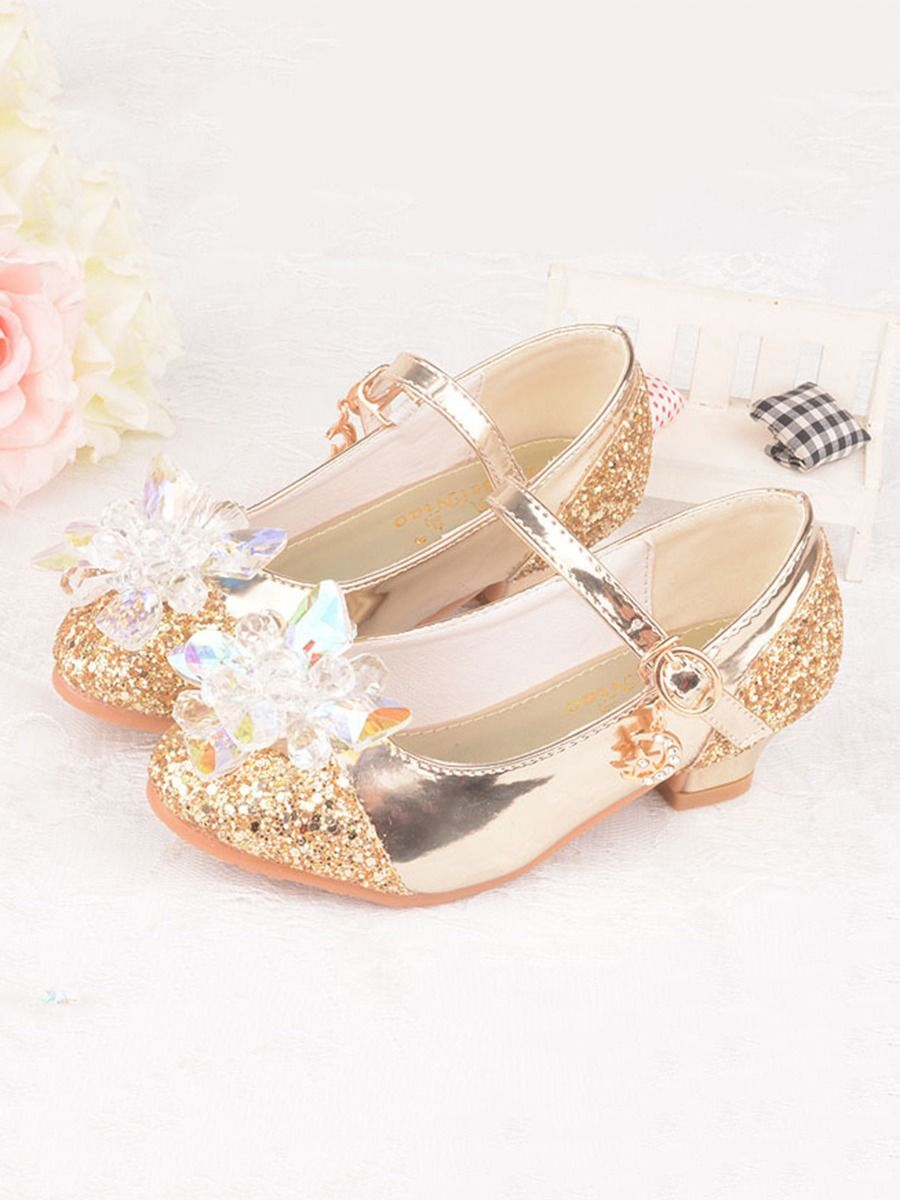 Kid Girl Crystal Sequins Shoes
