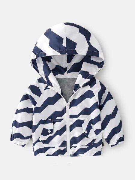 Panda Star Print Zipper Hoodies For Kid Boy  Wholesale 2