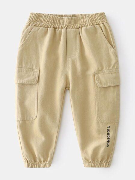 Kid Boy Pocket Letter Print Cargo Pants  Wholesale BOYS 2021-08-27