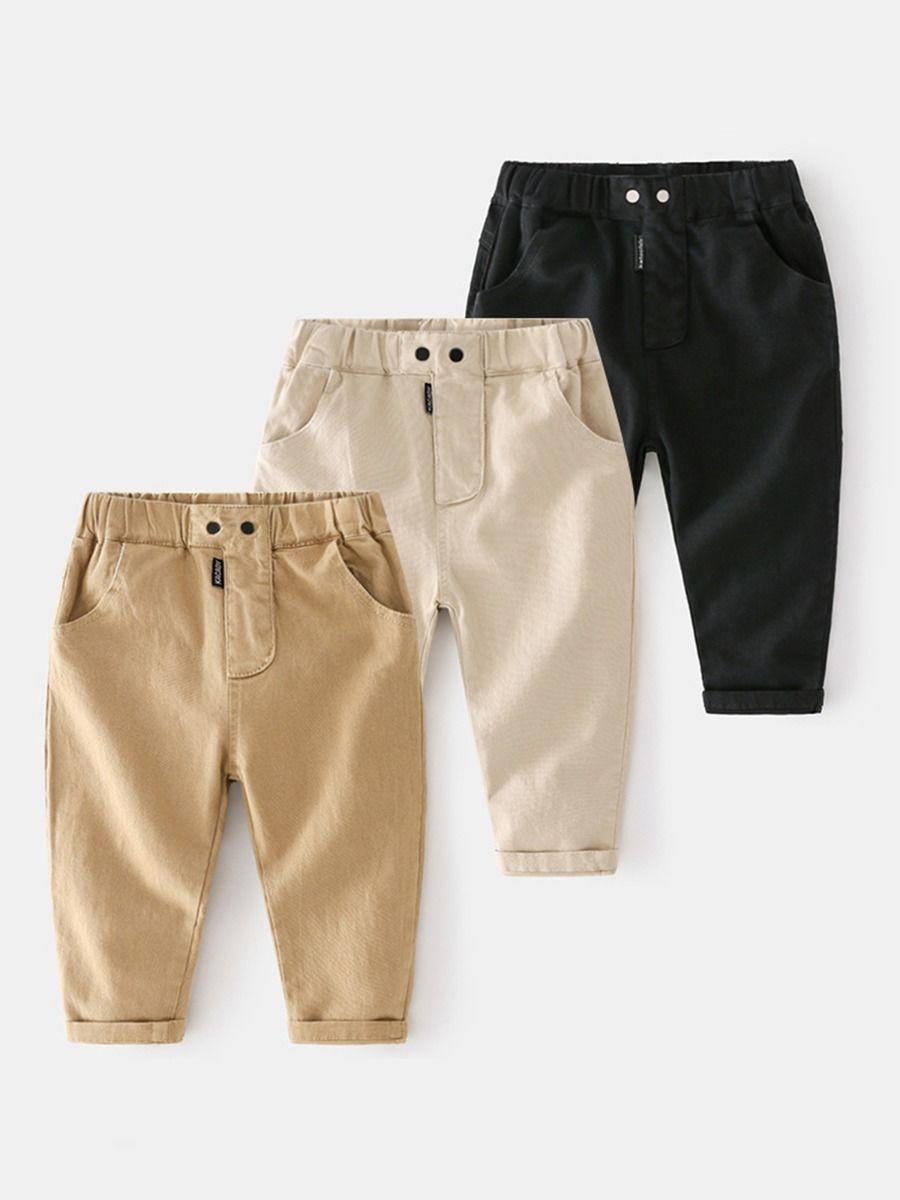 Kid Boy Solid Color Half Zip Hooded Pullover  Wholesale BOYS 2021-08-28