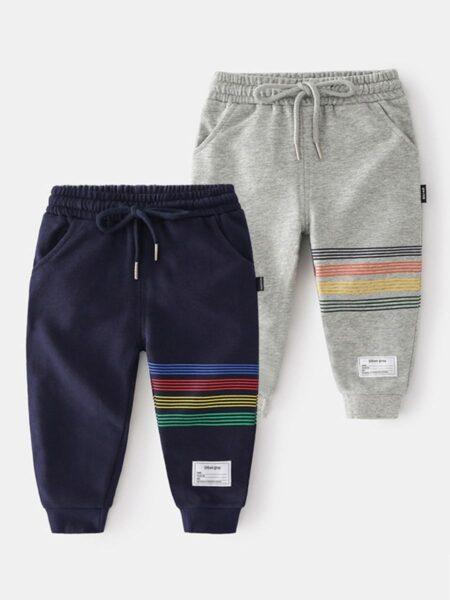 Striped Print Kid Boy Sweatpants  Wholesale BOYS 2021-08-27