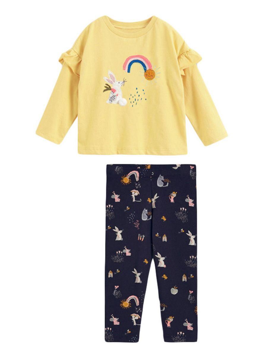 Striped Rainbow Sun Print Long Sleeve Hooded Dresses For Girl  Wholesale 13