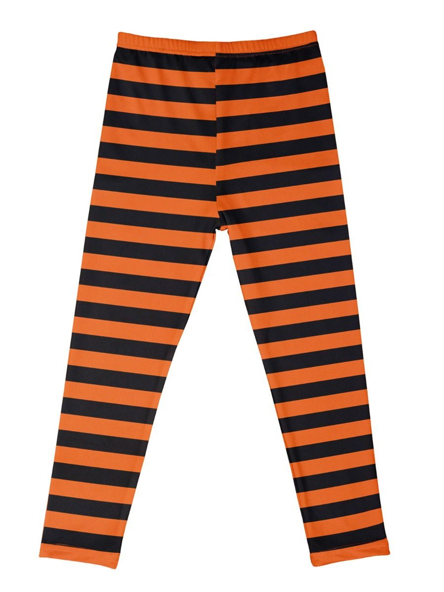 2 Pieces Halloween Girls Clothing Sets Flared Sleeves Pumpkin Top And Striped Bell Bottom Pants  Wholesale GIRLS 2021-08-20