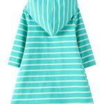 Striped Rainbow Sun Print Long Sleeve Hooded Dresses For Girl  Wholesale 3
