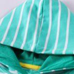 Striped Rainbow Sun Print Long Sleeve Hooded Dresses For Girl  Wholesale 4