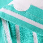 Striped Rainbow Sun Print Long Sleeve Hooded Dresses For Girl  Wholesale 7