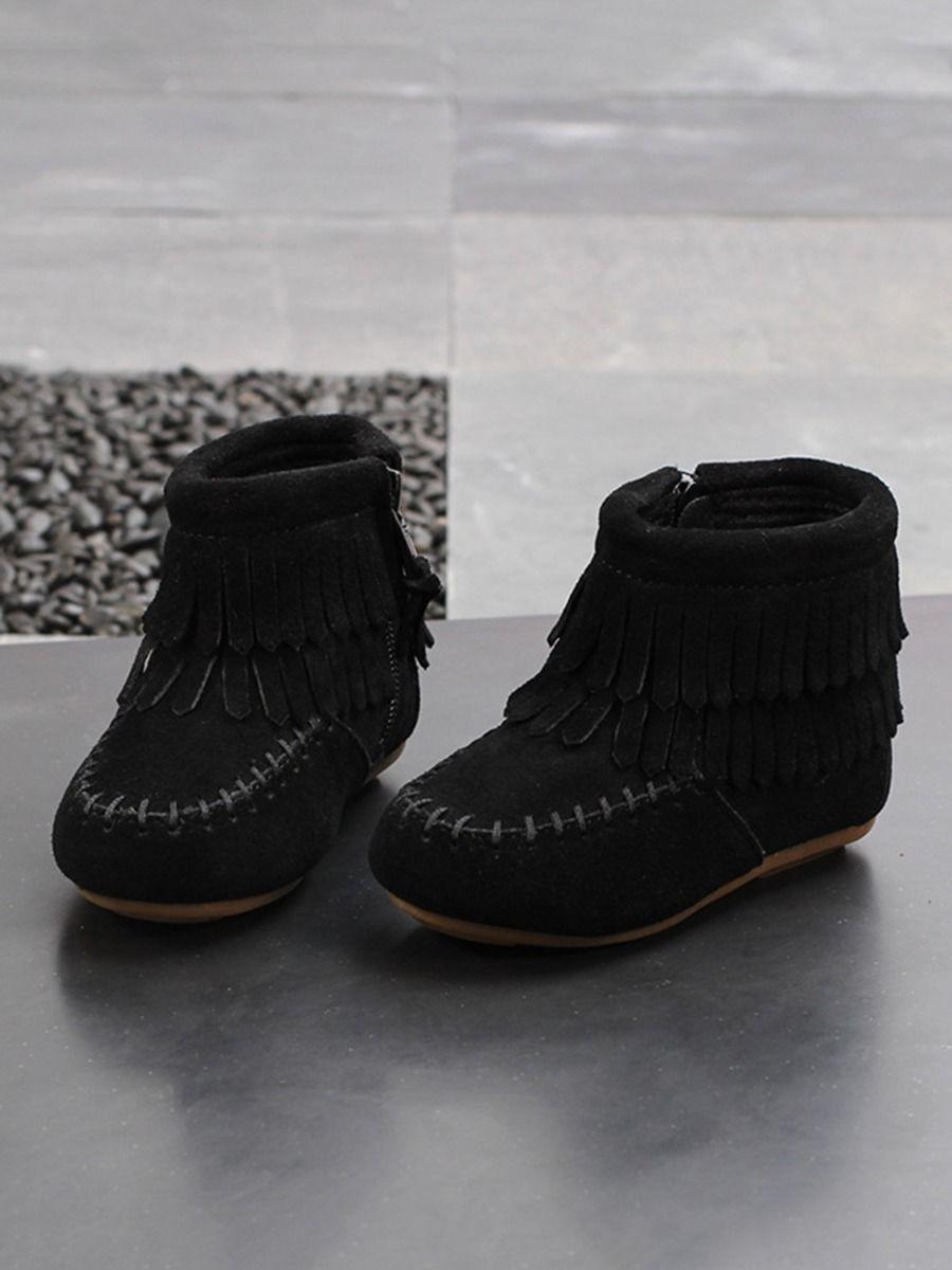 Kid Girl Tassel Zipper Martin Boots