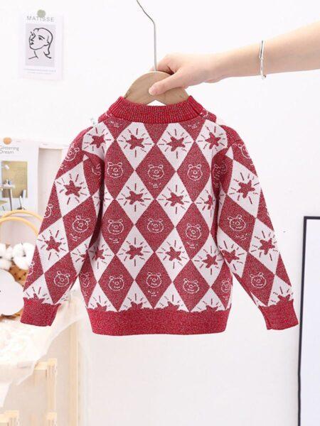 Diamond Star Knitting Sweater For Toddler Kid  Wholesale 2