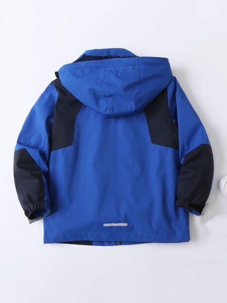 Hit Color Kid Boy Hooded Jacket  Wholesale 2