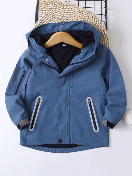 Kid Boy Zip Up Hooded Jacket  Wholesale 2