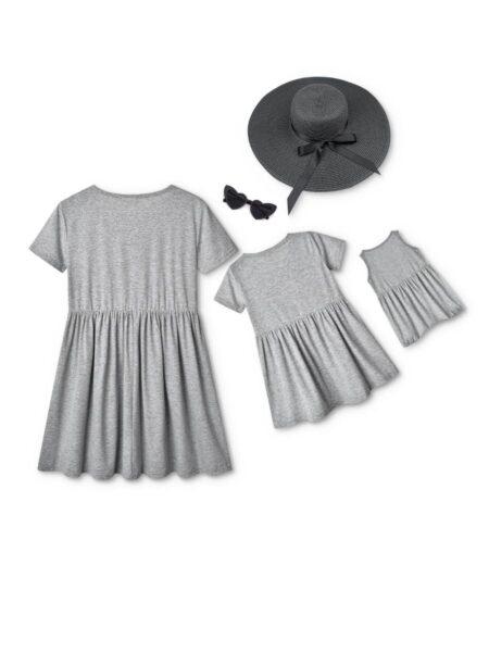 Eyelashes Print Mommy And Me Dress Wholesale Dresses 2021-08-27