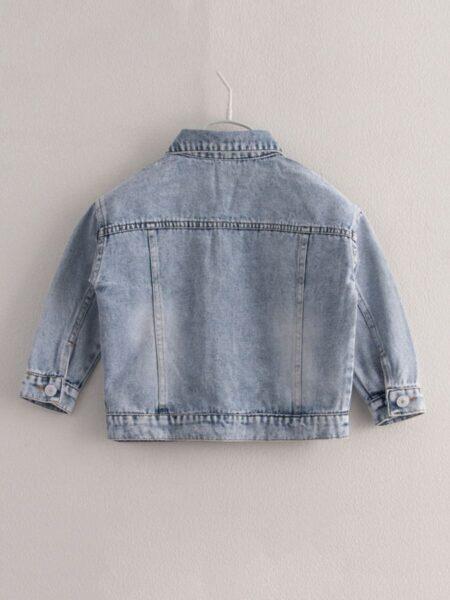 Kid Girl Button Denim Jacket Wholesale 2