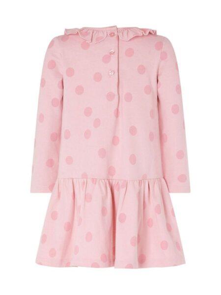 Polka Dots Sheep Print Ruffle Collar Dresses For Girl  Wholesale 2