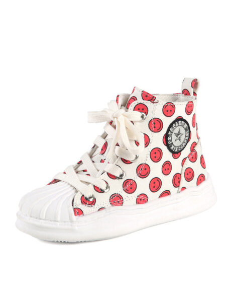 Smile Print Kid Girl Canvas Shoes 2